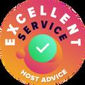 """Me võtsime aega, et isiklikult ja anonüümselt vaadata üle iga firma kasutajateenus.                                                                                               """"Täiuslikkuse märk"""" anti hostingufirmadele, mis vastasid HostAdvice-i poolt seatud kasutajateenuse kõrgetele standarditele, mis tähendab seda, et nad olid kiired, tõhusad, põhjalikud, ja mis kõige tähtsam, kasulikud."""